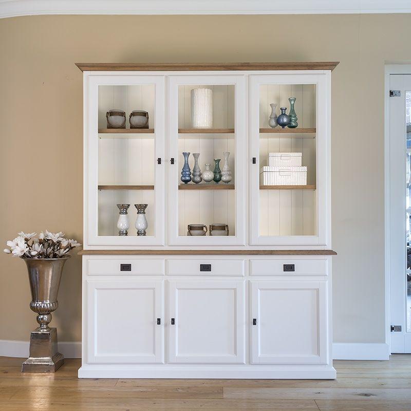 Wohnzimmer Vitrine  Vitrine weiß im Landhausstil Möbel Design