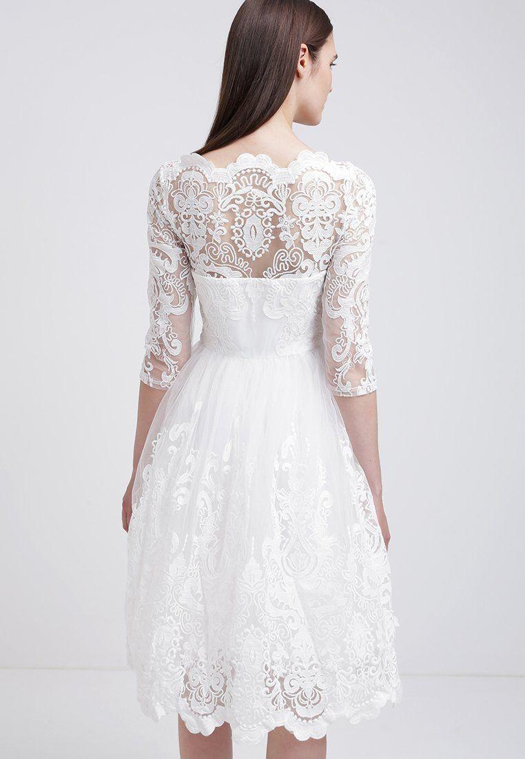Zalando Hochzeitskleid  Chi Chi London Cocktailkleid festliches Kleid white