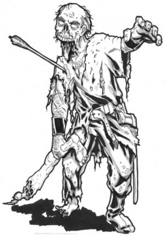 Zombie Ausmalbilder  Personnages – Coloriages à imprimer